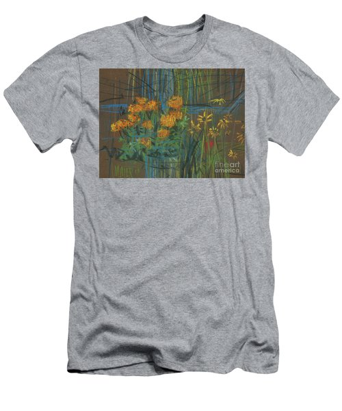 Men's T-Shirt (Slim Fit) featuring the painting Summer Flowers by Donald Maier
