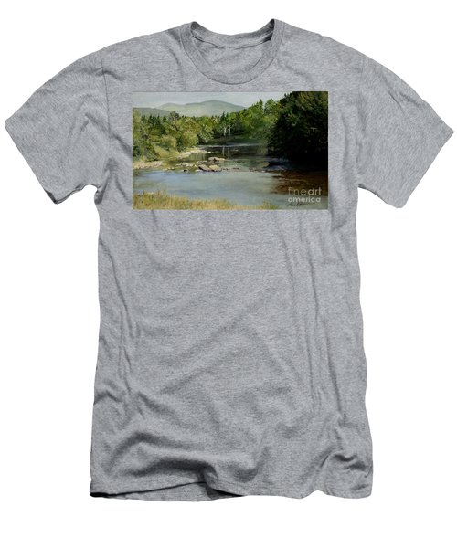 Summer On The River In Vermont Men's T-Shirt (Athletic Fit)