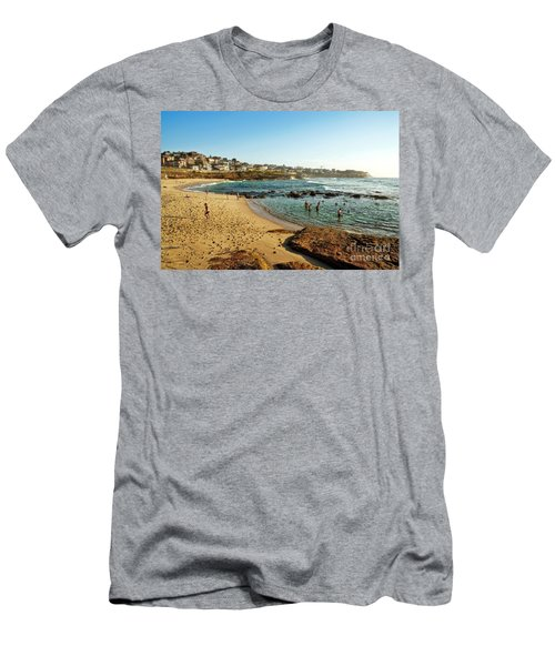 Summertime At The Beach By Kaye Menner Men's T-Shirt (Athletic Fit)