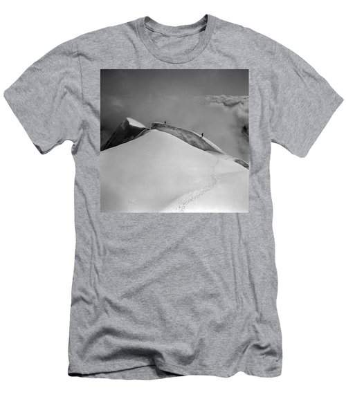 T-702412-bw-summit Of Mt. Robson Men's T-Shirt (Athletic Fit)