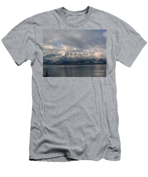 Sun On The Mountains Men's T-Shirt (Slim Fit) by Leone Lund