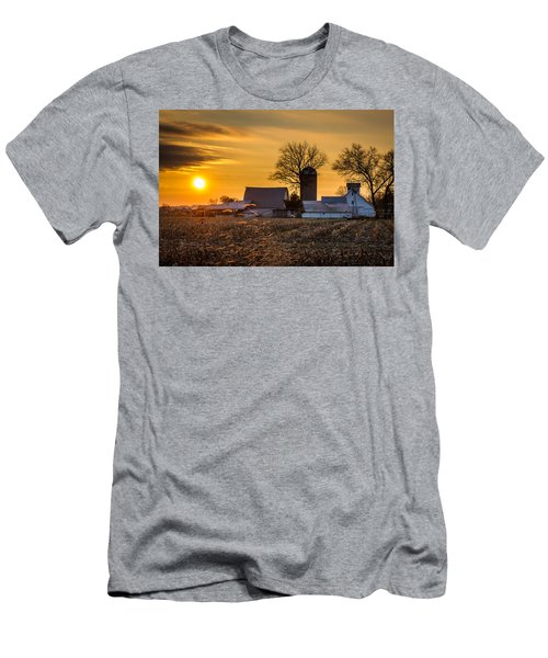 Sun Rise Over The Farm Men's T-Shirt (Athletic Fit)
