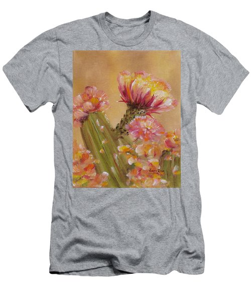 Men's T-Shirt (Athletic Fit) featuring the painting Sun Worshipper by Judith Rhue