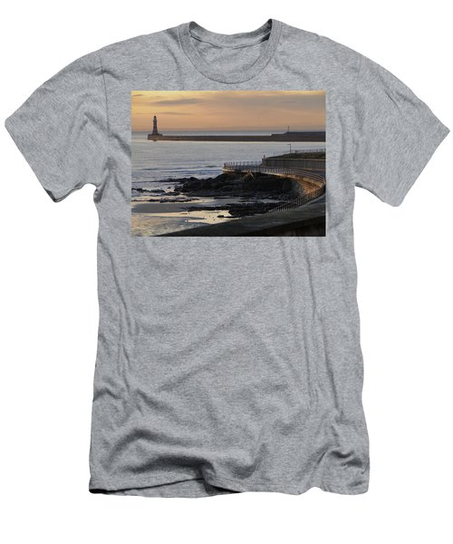 Sunderland Sunrise Men's T-Shirt (Slim Fit) by Julia Wilcox
