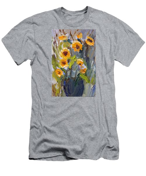 Sunflower Bouquet Men's T-Shirt (Slim Fit) by Michael Helfen