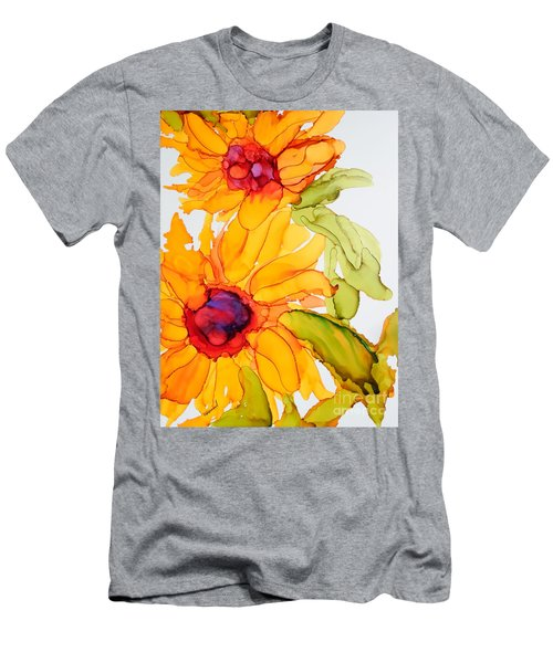 Sunflower Duo Men's T-Shirt (Athletic Fit)