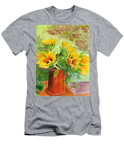 Sunflowers In Copper Men's T-Shirt (Slim Fit) by Lynne Reichhart