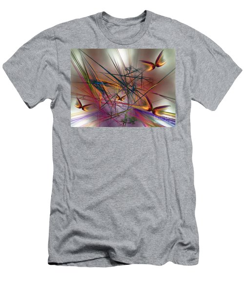 Sunny Day-abstract Art Men's T-Shirt (Athletic Fit)