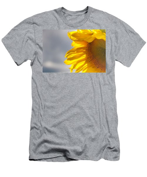 Men's T-Shirt (Slim Fit) featuring the photograph Sunny Sunflower by Cheryl Baxter