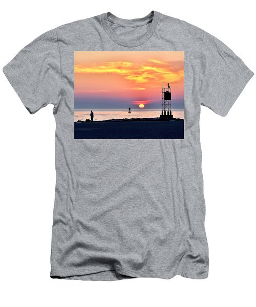 Sunrise At Indian River Inlet Men's T-Shirt (Athletic Fit)