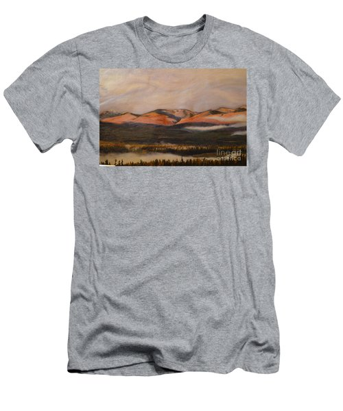 Men's T-Shirt (Slim Fit) featuring the painting Sunrise On The Ibex Valley by Brian Boyle