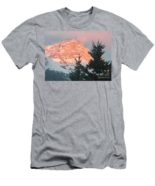 Men's T-Shirt (Athletic Fit) featuring the photograph Sunrise On The Mountain by Ann E Robson