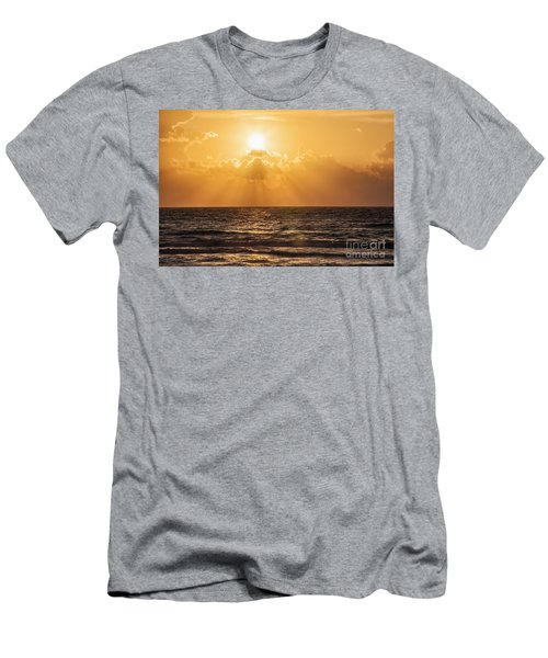 Sunrise Over The Caribbean Sea Men's T-Shirt (Athletic Fit)