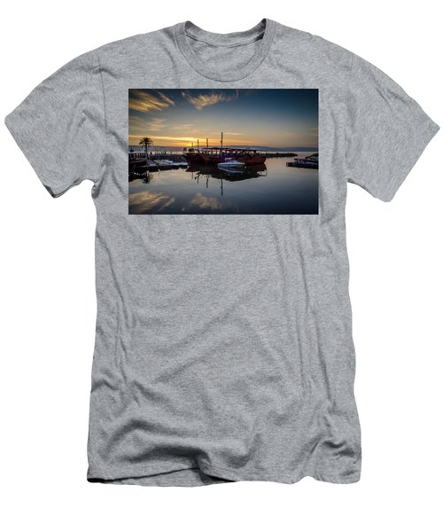 Sunrise Over The Sea Of Galilee Men's T-Shirt (Athletic Fit)
