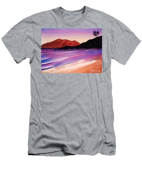 Sunset At Black Rock Maui Men's T-Shirt (Athletic Fit)