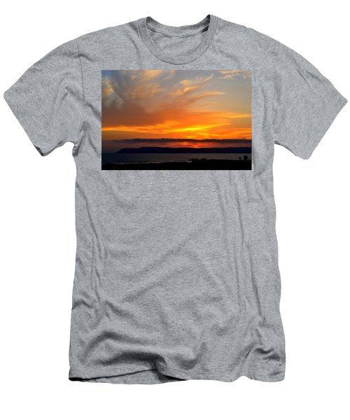 Sunset At Point Loma From Coronado California Men's T-Shirt (Athletic Fit)