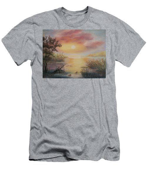 Sunset By The Lake Men's T-Shirt (Athletic Fit)