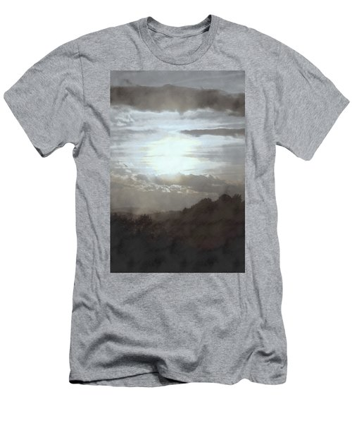 Men's T-Shirt (Slim Fit) featuring the photograph Sunset Impressions Over The Blue Ridge Mountains by Photographic Arts And Design Studio