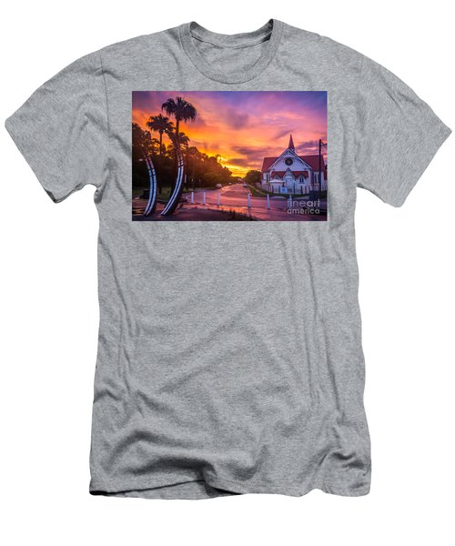 Men's T-Shirt (Slim Fit) featuring the photograph Sunset In Sandgate by Peta Thames