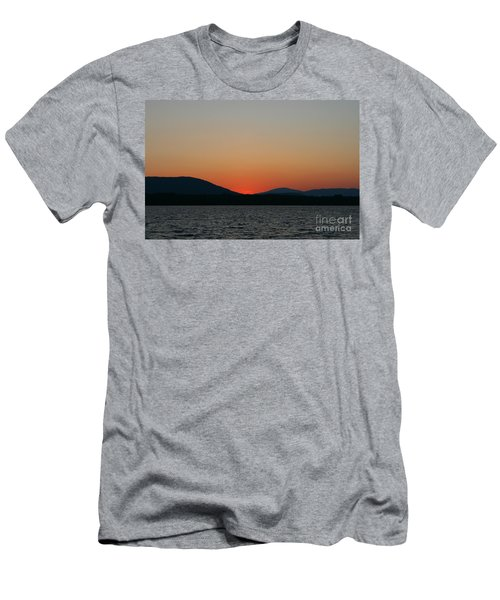 Sunset Lines Of Lake Umbagog  Men's T-Shirt (Slim Fit)
