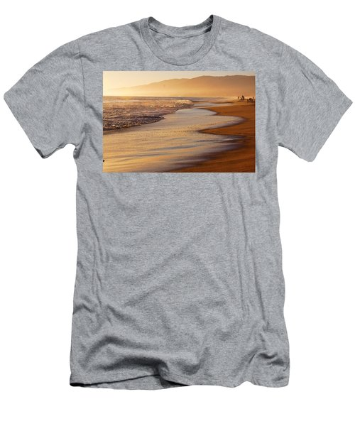 Sunset On A Beach Men's T-Shirt (Athletic Fit)