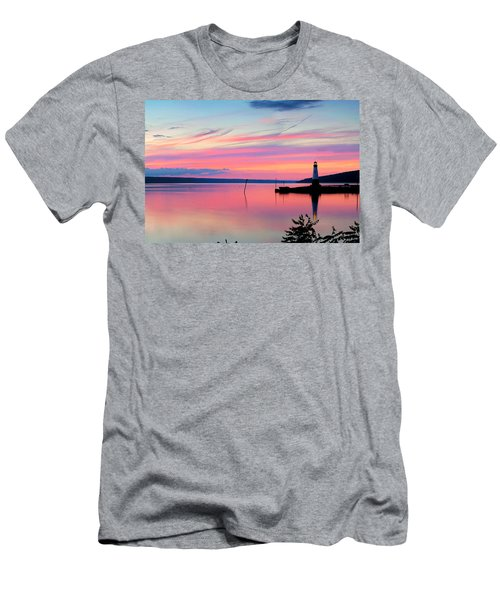 Sunset On Cayuga Lake Ithaca New York Men's T-Shirt (Athletic Fit)
