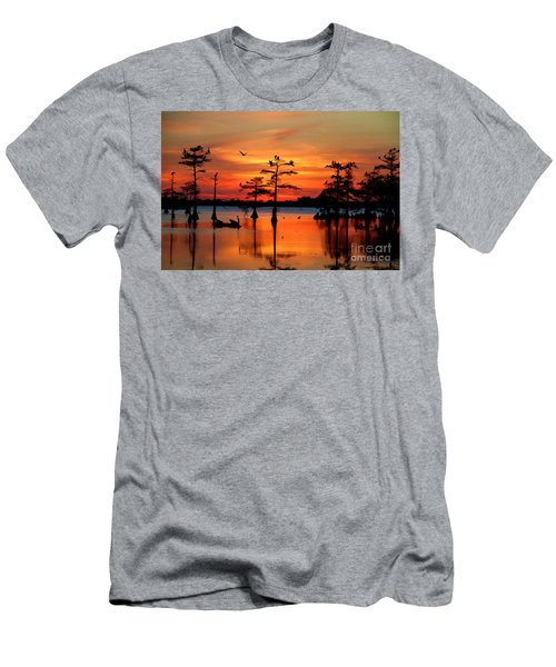Sunset On The Bayou Men's T-Shirt (Athletic Fit)
