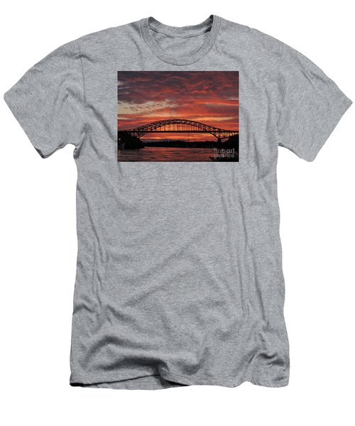 Sunset On The Piscataqua         Men's T-Shirt (Slim Fit) by Marcia Lee Jones