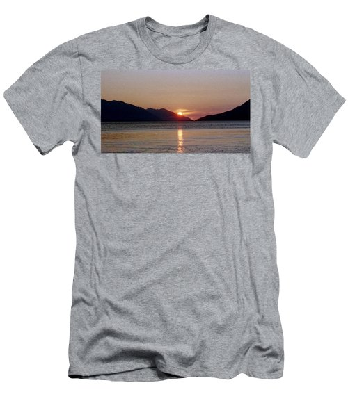 Sunset Over Cook Inlet Alaska Men's T-Shirt (Athletic Fit)