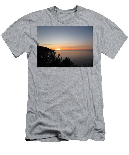 Sunset Over Meat Cover Men's T-Shirt (Athletic Fit)