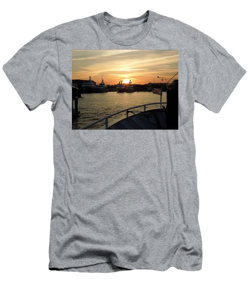 Men's T-Shirt (Slim Fit) featuring the photograph Sunset Over The Marina by Ron Davidson