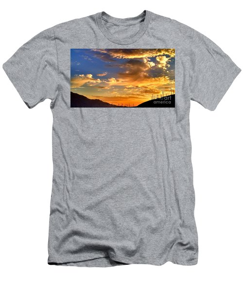 Sunset Over The Pass Men's T-Shirt (Slim Fit) by Chris Tarpening