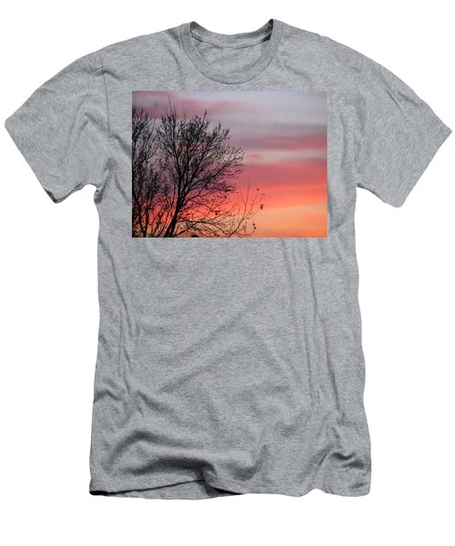 Sunset Silhouette Men's T-Shirt (Slim Fit) by Ellen Meakin