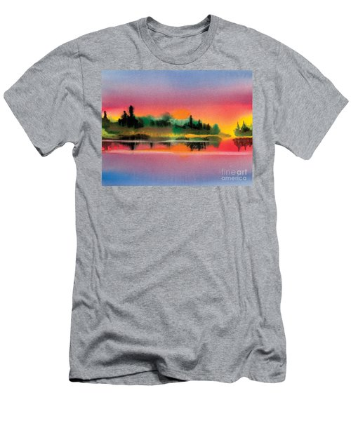 Men's T-Shirt (Slim Fit) featuring the painting Sunset by Teresa Ascone