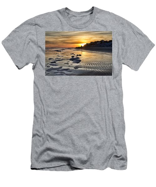Sunset Wild Dunes Beach South Carolina Men's T-Shirt (Athletic Fit)