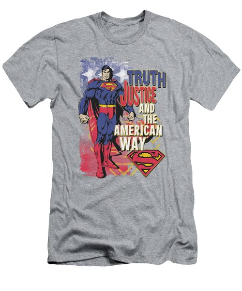 Superman - Truth Justice Men's T-Shirt (Athletic Fit)