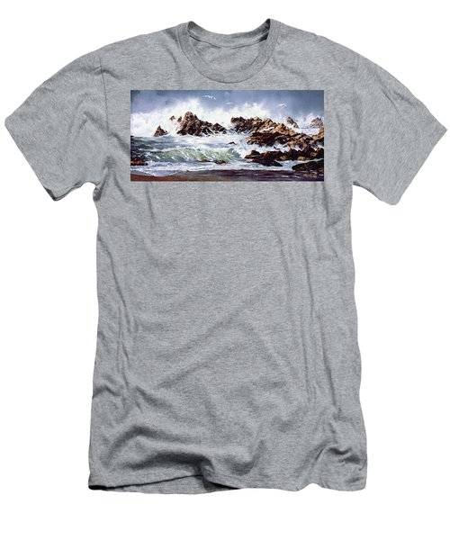 Surf At Lincoln City Men's T-Shirt (Athletic Fit)