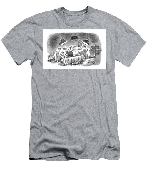 Surgeons Working On A Bomb In Operating Room Men's T-Shirt (Athletic Fit)