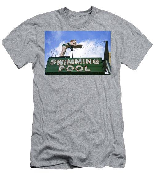 Swimming Pool Men's T-Shirt (Athletic Fit)