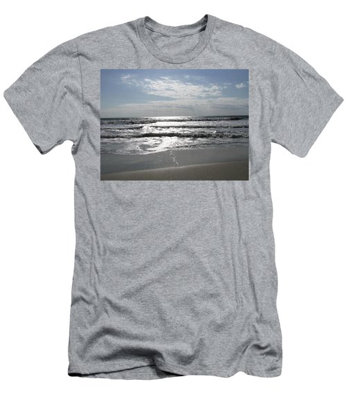 Swirling Sunshine Men's T-Shirt (Slim Fit) by Ellen Meakin