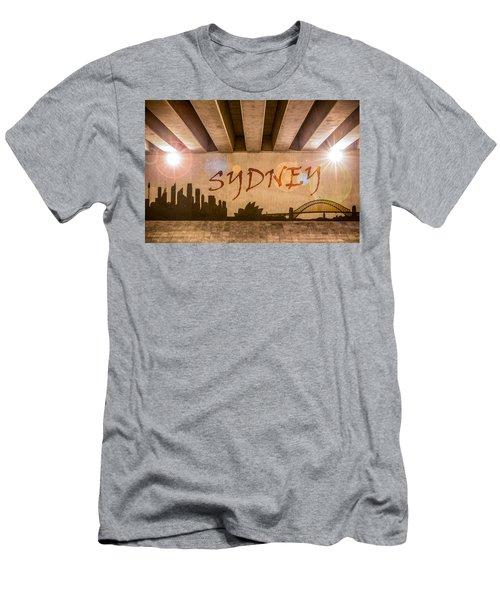 Sydney Graffiti Skyline Men's T-Shirt (Athletic Fit)