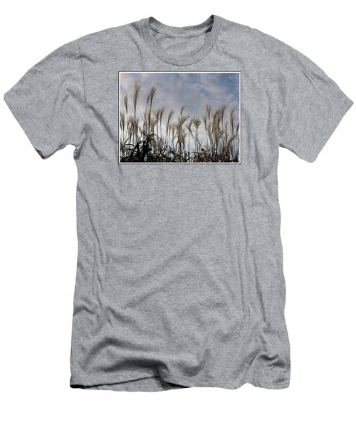 Tall Grasses And Blue Skies Men's T-Shirt (Slim Fit) by Dora Sofia Caputo Photographic Art and Design
