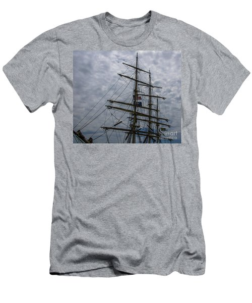 Men's T-Shirt (Slim Fit) featuring the photograph Tall Ship Mast by Dale Powell