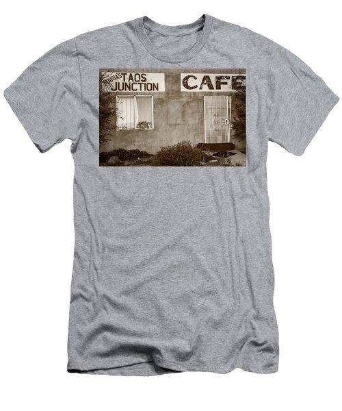 Taos Junction Cafe Men's T-Shirt (Slim Fit) by Steven Bateson