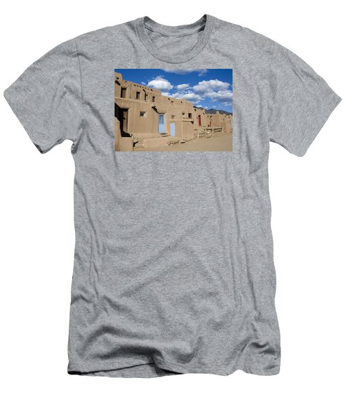 Taos Pueblo Men's T-Shirt (Slim Fit) by Elvira Butler