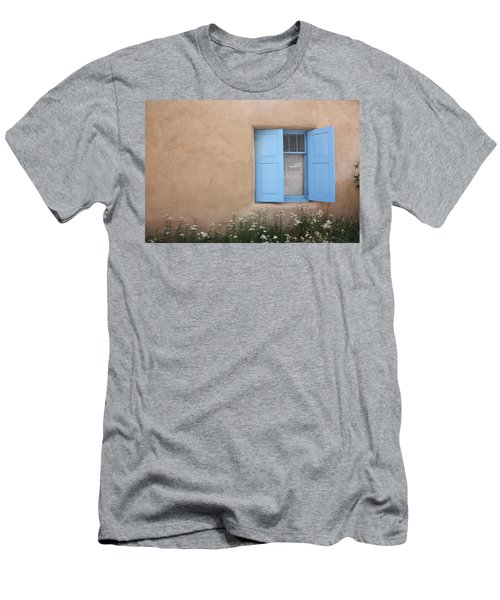 Men's T-Shirt (Slim Fit) featuring the photograph Taos Window Vi by Lanita Williams