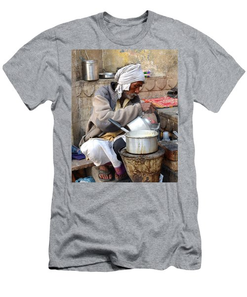 Tea Stall On The Ghats  - Varanasi India Men's T-Shirt (Athletic Fit)
