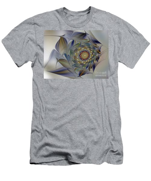 Tender Flowers Dream-fractal Art Men's T-Shirt (Athletic Fit)