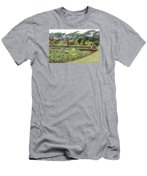 Men's T-Shirt (Slim Fit) featuring the photograph Tending The Land by Suzanne Luft