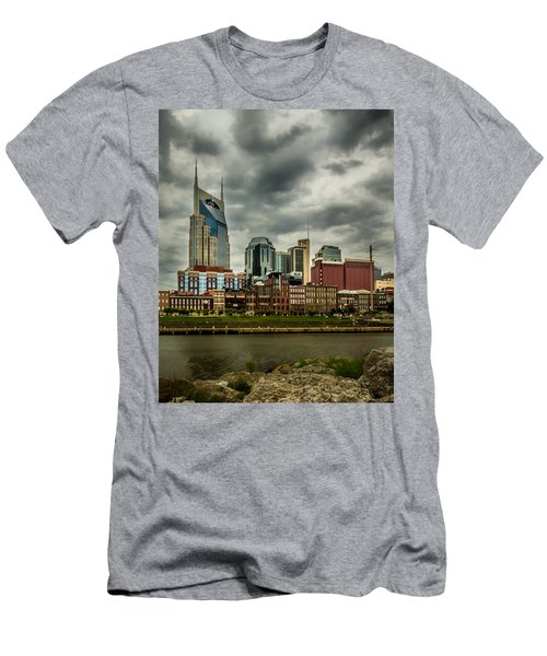Tennessee - Nashville From Across The Cumberland River Men's T-Shirt (Athletic Fit)